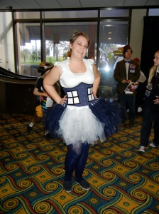 Courtney Stoker as the TARDIS